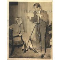 1922 Press Photo George Barnes Movie Cameraman and Bride Joan Blondell