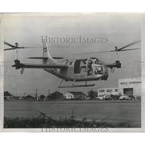 1955 Press Photo XV3 convertiplane in first flight at almost 30 feet in height
