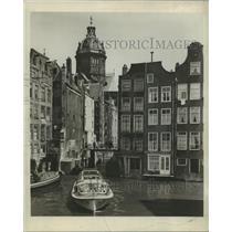 1956 Press Photo Boat on Amsterdam's Water Roads - noz00597
