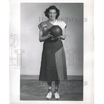 1949 Press Photo Ethel Hanna Bowler Walter - RRW30295