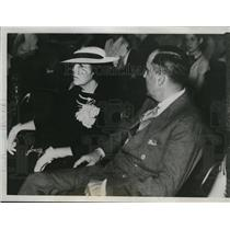1935 Press Photo Mr & Mrs Charles Urschel in Oklahoma City Kidnapping Trial