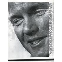 1962 Press Photo Lt. Col. John H. Glenn, Jr Aboard U.S.S. NOA at Sea - nem34842