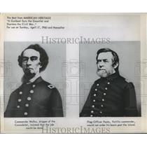 1960 Press Photo Civil War- Photos of Civil War boat Commanders. - abna01281
