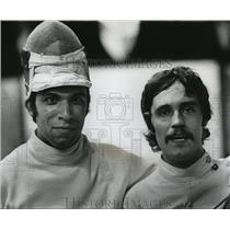 1976 Press Photo Pedro Barcello and Don Koser Olympic fencing hopefuls