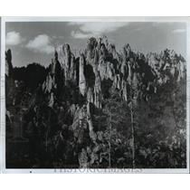 1987 Press Photo The Cathedral Spires in the Needles in South Dakota - mja85180