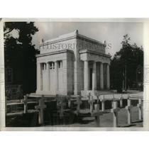 1937 Press Photo American War Cemetery in England. - RRX52749