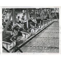 1959 Press Photo Pan American Games Swimming - RRW52177