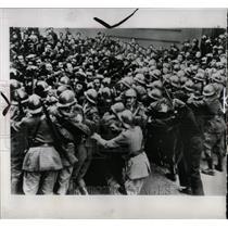 1947 Press Photo French Police Communist Demonstrators - RRW91065