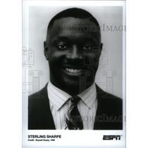 1996 Press Photo Sterling Sharpe Sportscaster ESPN - RRX40255