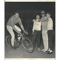 1966 Press Photo bicycle riding world record continuous - RRV63009