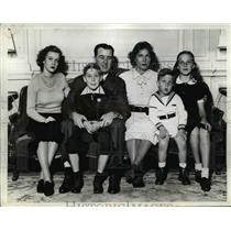 1938 Press Photo Governor A.B. Chandler & Family of Kentucky - nep05588