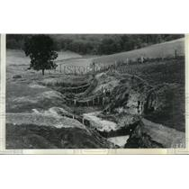 1936 Press Photo Soil erosion on the Linrod Brothers Farm, Chaseburg, Wisconsin