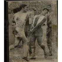 1969 Press Photo Dirty Soccer Played by Real Madrids.