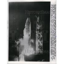 1959 Press Photo Air Force Atlas ICBM takes off from Cape Canaveral FL