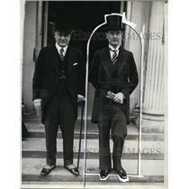 1929 Press Photo Mr W Bostrom Swedish Minister and Capt Paul Lundberg in DC
