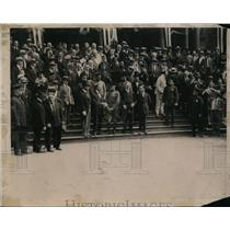 1919 Press Photo Official welcome of Gen pershing with Rodman Wannamaker