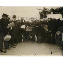 1919 Press Photo Crew Aboard Ship - nem36688