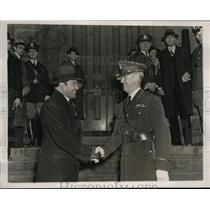 1938 Press Photo West Point Military Academy visit by Col F Batista - nem37161