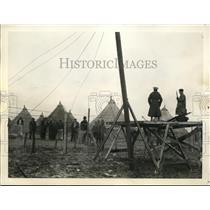 1937 Press Photo Flood-Maddened Prisoners Held in Camp - nem38187