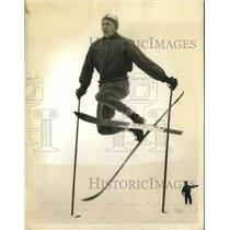1935 Press Photo U.S. skier Nils Backstrom to compete in 1936 Olympics