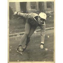 1932 Press Photo Eddie Schroeder Chicago's Olympic Skating Team member