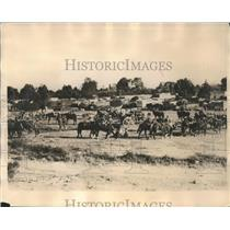 1927 Press Photo Mounted Forces of Federal Troops entered Village of San Diego