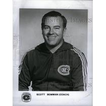 1978 Press Photo Coach Scott Bowman Les Canadien Hockey - RRX32289