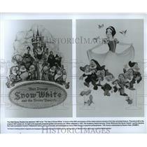 1937 Press Photo Scenes from Walt Disney's Snow White and the Seven Dwarfs.