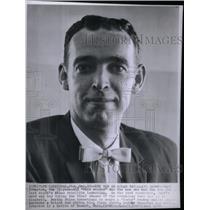 1958 Press Photo Curt Johnston Satellite Conductor - RRX34459