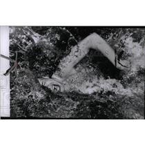 1956 Press Photo Swimmer Breen Action Taking Breath - RRW77593