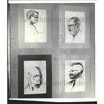 1966 Press Photo Tavern Club members Taylor Poore art - RRW48957