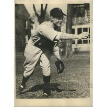1931 Press Photo Johnny Evers, Jr. Georgetown Univ. Baseball Captain - sbs07849