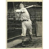 1936 Press Photo Jimmy Ripple Outfielder Giants Vs NY Yankees World Series