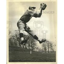 1937 Press Photo Eddie Collins, Jr. carries on tradition by playing Center Field
