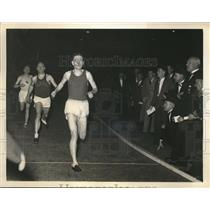 1936 Press Photo Frank Nordell at 1500 Meter Race at Newark A.C. Meet