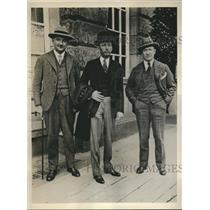 1930 Press Photo Douglas Miller, Will Hays, George Canty in Berlin - sbx05380