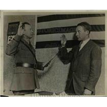 1927 Press Photo Alexis Dupont Sworn in as Air Service Recruit, Camden, NJ
