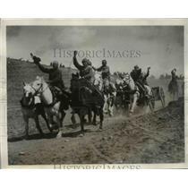 1931 Press Photo Red Artillermen in Soviet Movie Scene - nem39831