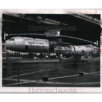 1963 Press Photo A new Star Lifter plane of the US Air Force on exhibit