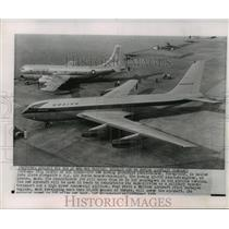 1954 Press Photo Boeing prototype Stratotanker, U.S. Air Force tanker-transport