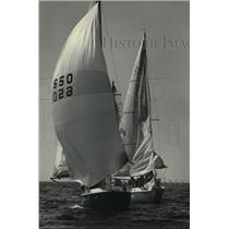 1983 Press Photo Entries in the Racine on the Lake Sailing Classic