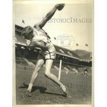 1936 Press Photo Walter Duke Wood in 1C-4A Games at Franklin Field - sbs09103