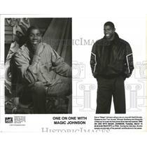 "1994 Press Photo LA Lakers basketball star, Earvin ""Magic"" Johnson - sps10476"