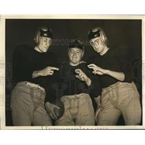 "1942 Press Photo Lew Sieth, Henry ""Hank"" Mazur, BobWhitlow West Point Football"