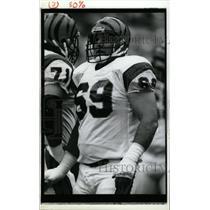 1990 Press Photo Tim Krumrie Cincinnati Bengals Tackle - RRW73967