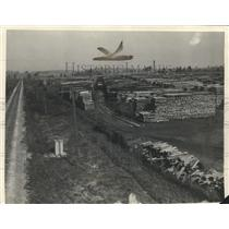 1927 Press Photo Railway tie storage yard - Granville Wisconsin - mjb09023