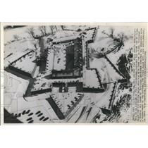 1940 Press Photo Aerial view of Fort Ticonderoga in Ticonderoga, New York