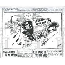 1972 Press Photo cartoon from Detroit News in 1905