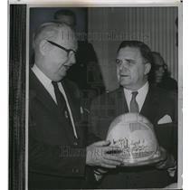 1961 Press Photo Director James Webb of NASA with Chairman Overton Brooks