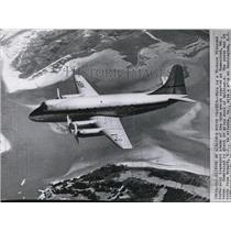 1969 Press Photo Vickers Viscount turbo prop transport plane. - spw11624